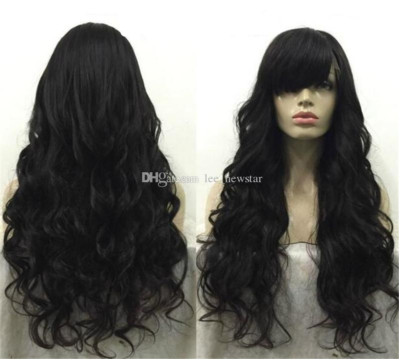 Silk Base Glueless Full Lace Wig With Baby Hair Virgin Hair Peruvian Body Wave Silk Top Full Lace Human Hair Wigs With Bangs