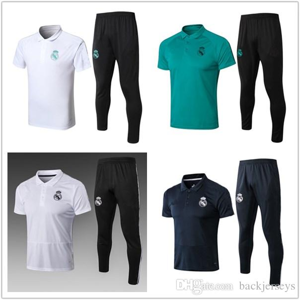 a94cb7187 2018 2019 Real Madrid Soccer Polo Training Suit 17 18 19 Football ...