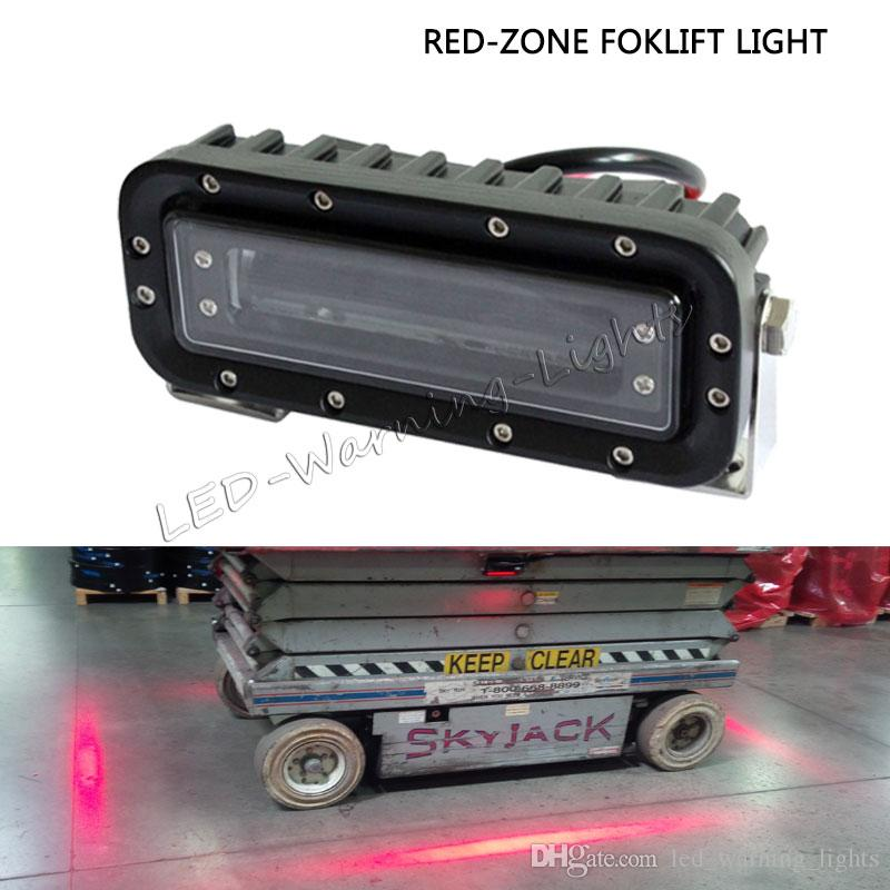 green led zone linear 18w forklift warning red danger led zone light for oval industrial tractor trailer approach stop marker spotlight