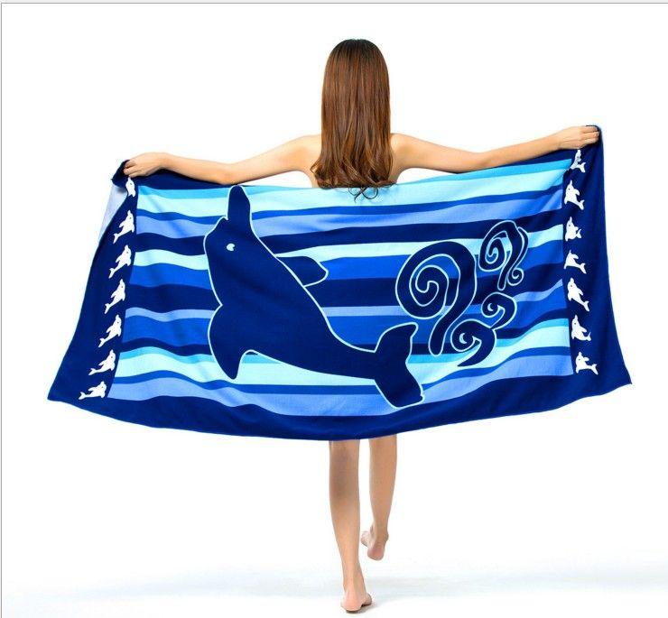 DHL 100% microfiber material big size 100x180cm sexy beach towel