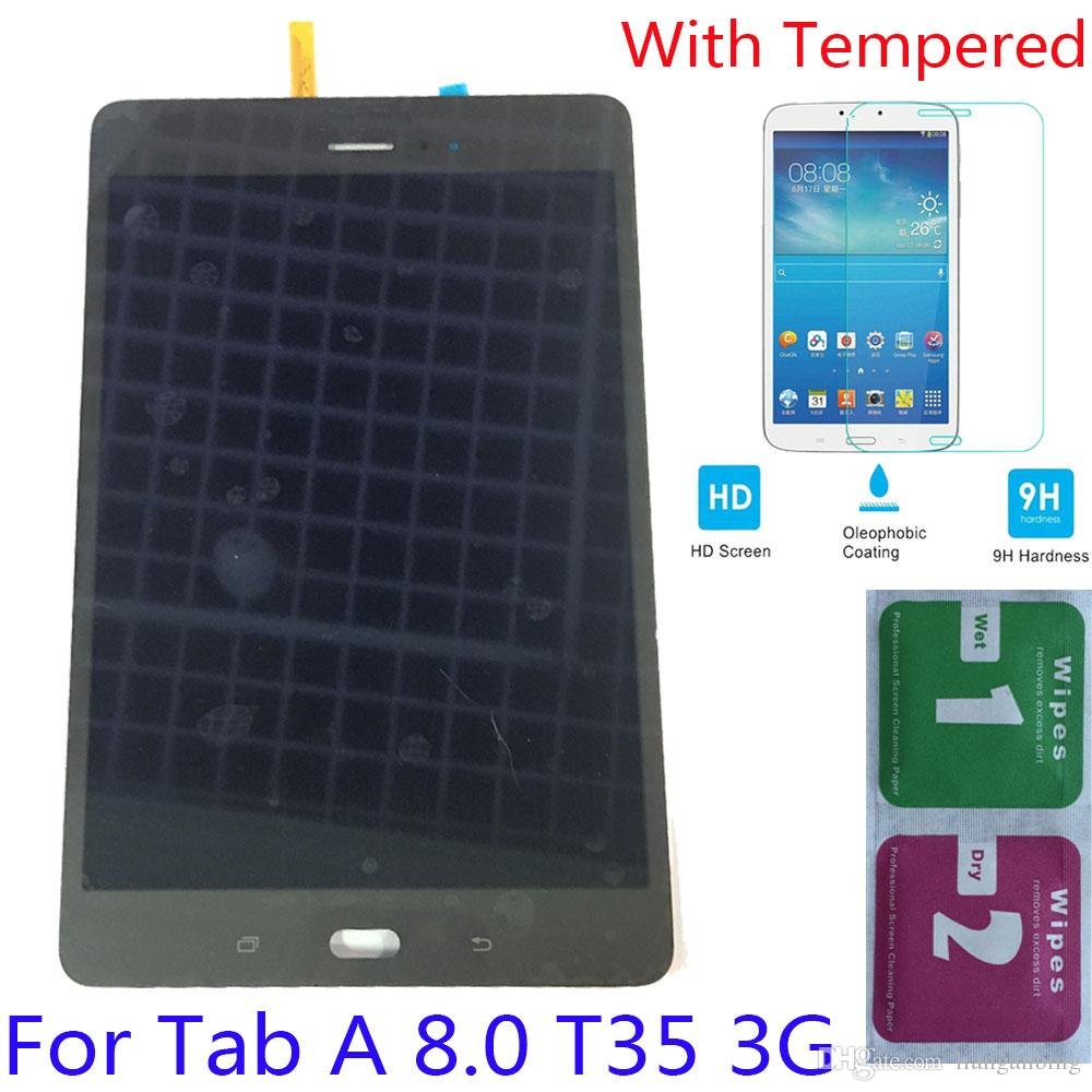 NEW LCD Display Touch Screen Digitizer For Samsung Galaxy Tab A 8.0 T355 3G Black/White With Tempered Glass DHL logistics