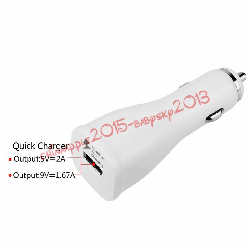 Kfz-Ladegerät Schnell anpassbarer einzelner USB-Kfz-Ladegerät-Dock-Adapter 5 V 2a 9 V 1.67a Universal-Kfz-Ladegerät Für Samsung s6 s7 s8 Note 4 Tablet-PC