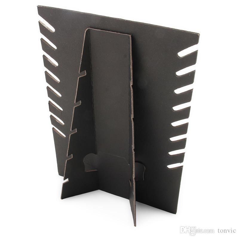 Großhandel 4 Black Velvet Halskette Ausstellungsstand Halter Board für 8 Stück