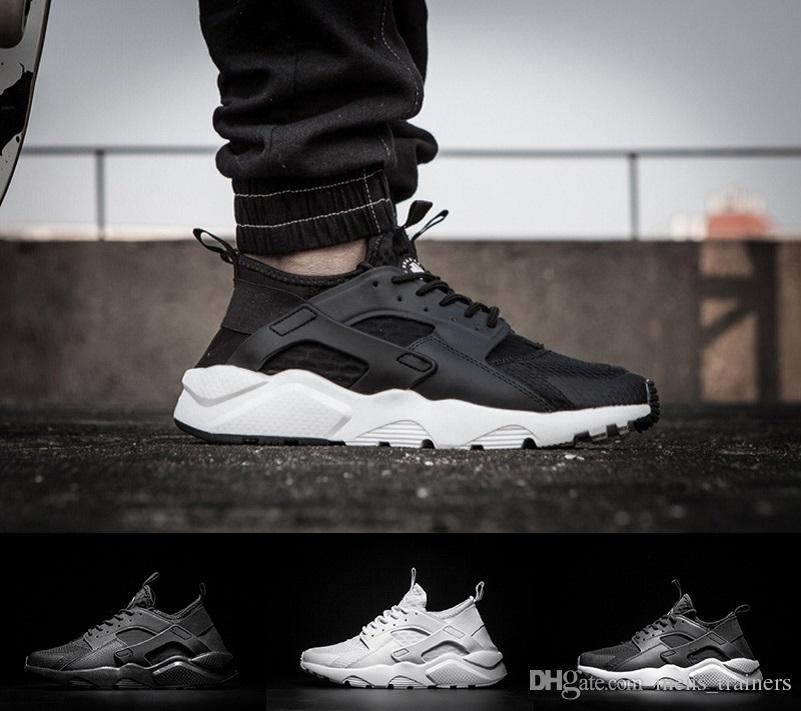 low priced 46b09 e3abc 2018 New Color Huarache 4.0 Custom Running Shoes For Men Red Black White  Air Huaraches Sneakers Designer Brand Fashion Trainers Winter Running Shoes  White ...