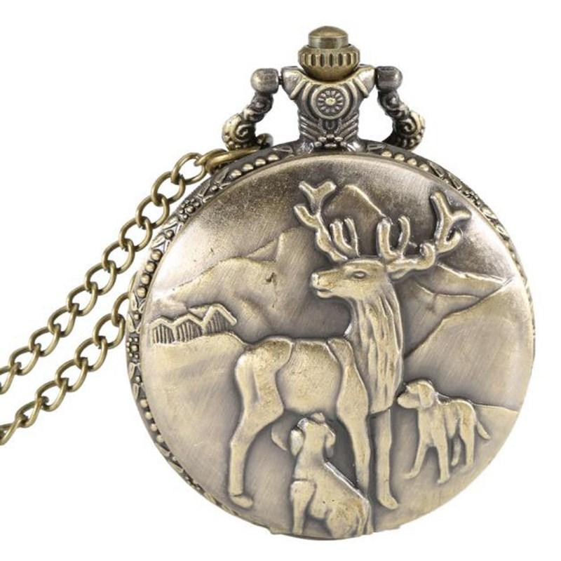 68e25651e Boutique Flip Pocket Watch Vintage Large Bronze Pocket Watch Quartz Reunion  Deer Waterproof Watches Watches For Sale From Hilaryw, $38.12| DHgate.Com