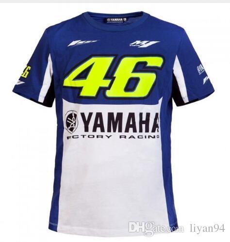 Grosshandel 2017 Valentino Rossi Vr46 Moto Gp T Shirt Fur Yamaha