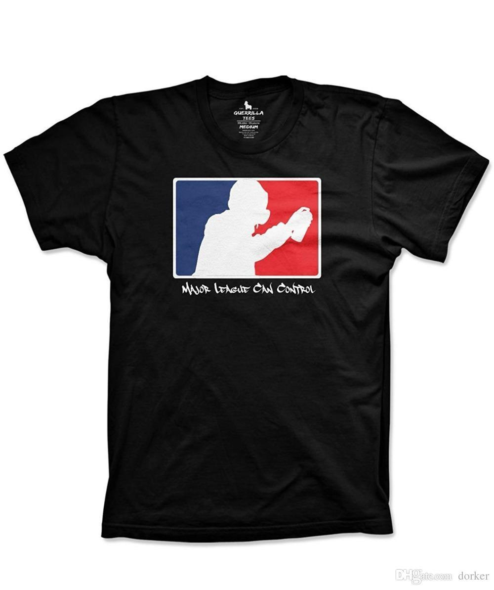 2018 Graffiti Shirts Major League Can Control Shirt Funny Tshirts Mens Shirts Men Clothes Novelty Cool Shirt And Tshirt Create Your Own T Shirt Design From