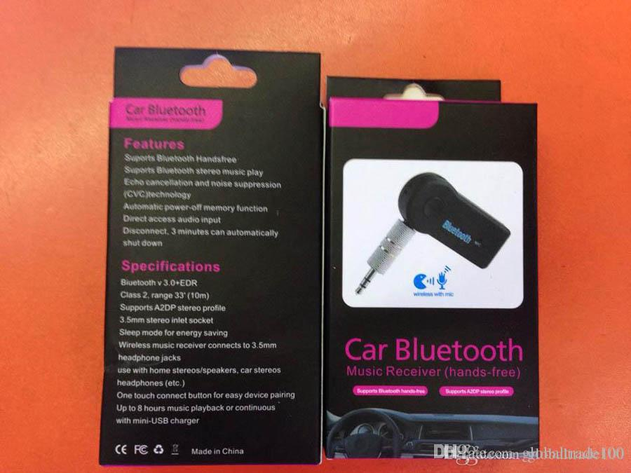 3.5mm Blutooth Audio Receiver Wireless Car Kit AUX A2DP Handsfree Music Headphone Adapter with Mic For Phone
