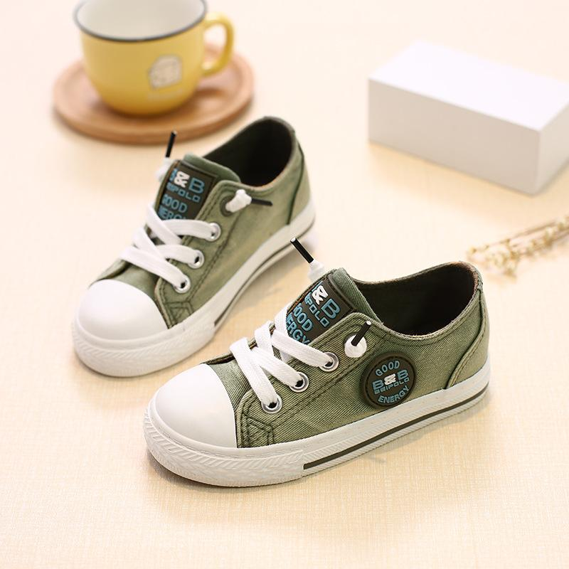 Canvas high quality fashion unisex boys girls shoes Patchwork All seasons baby sneakers footwear Lace up cool baby shoes