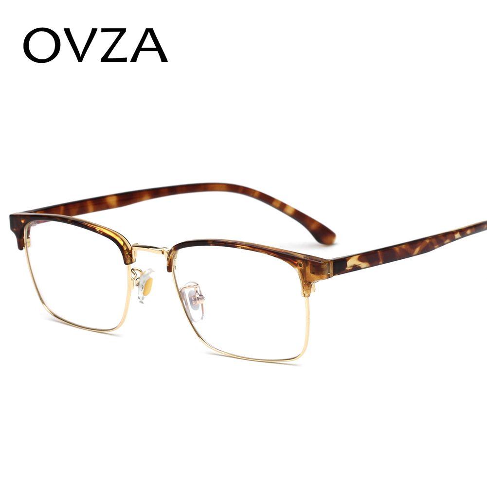 3d04d06418 OVZA Prescription Frame Glasses Men TR90+Metal Optical Glasses Frame Female Rectangle  Eyeglasses Oculos Masculino S4060 UK 2019 From Buafy
