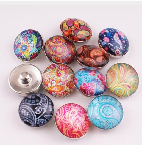 2018 HOT selling Nine planets galss Snap button Charm Popper for Snap Jewelry picture pendant