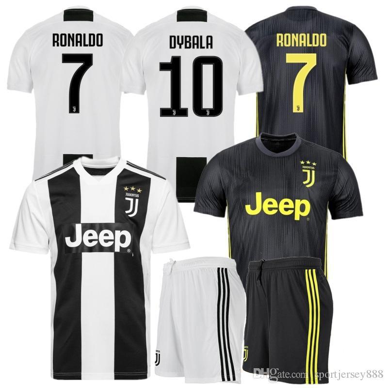 2018 19 RONALDO Maillot JUVENTUS KIDS Uniform Sets DYBALA Soccer ... fad6063aa