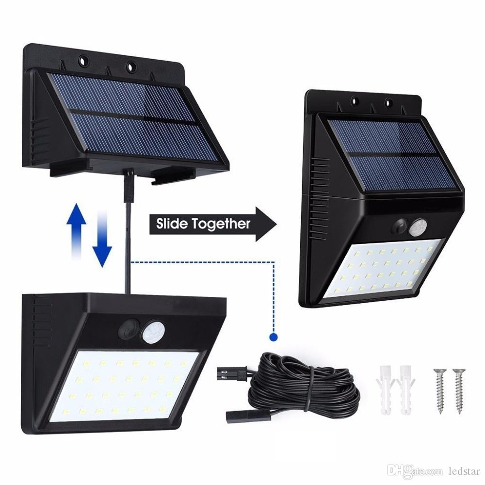 Compre nuevo separable led solar powered bombilla pir sensor de compre nuevo separable led solar powered bombilla pir sensor de movimiento impermeable ip65 garden street wall night lamp a 1029 del ledstar dhgate aloadofball Gallery