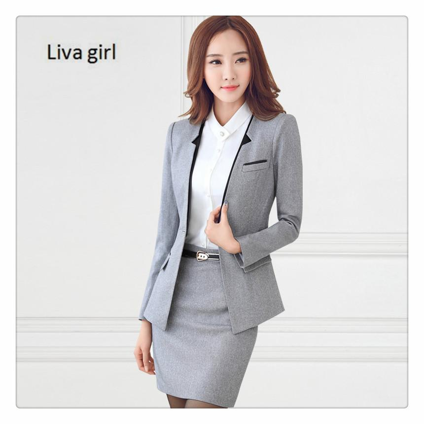 2019 Women Business Suits 2017 Fashion Women S Skirt Suit Slim Suit