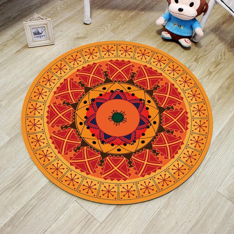 grosshandel geometrische mandala runde matte blume nordic gedruckt runde teppich fur wohnzimmer kinderzimmer grosse bereich teppich home schlafzimmer