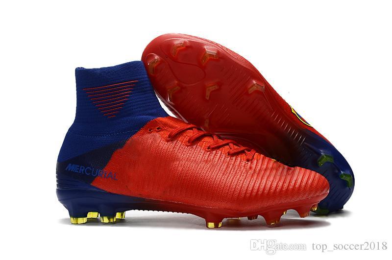 Crampons de football d'origine blanche et arceau Mercurial Superfly V SX Chaussures de football Neymar de qualité supérieure, chaussures de football Cristiano Ronaldo