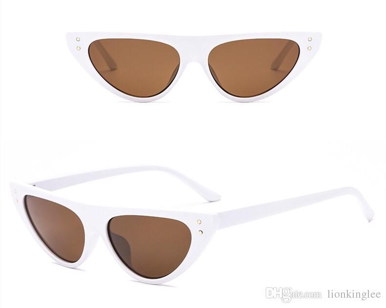 2018 Yeni Moda Üçgen Güneş Gözlüğü Şekilli Retro Güneş Gözlüğü Akını Insanlar Aşk Boy Ayna Gözlük 3281