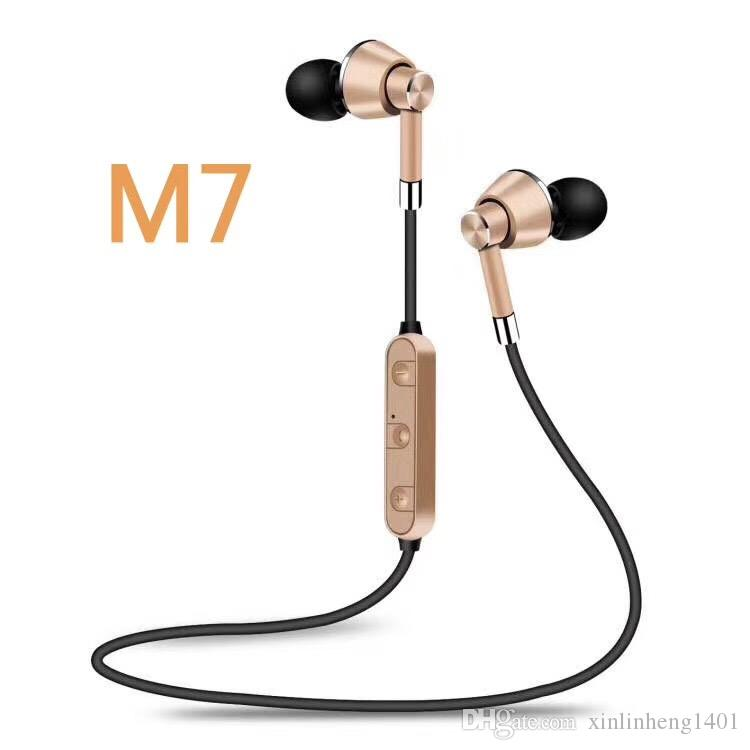 M7 Bluetooth Headphones Bluetooth V4.2 Wireless Earphone Noise Cancelling with Mic for Talking Iphone X S8 Free DHL Shipping
