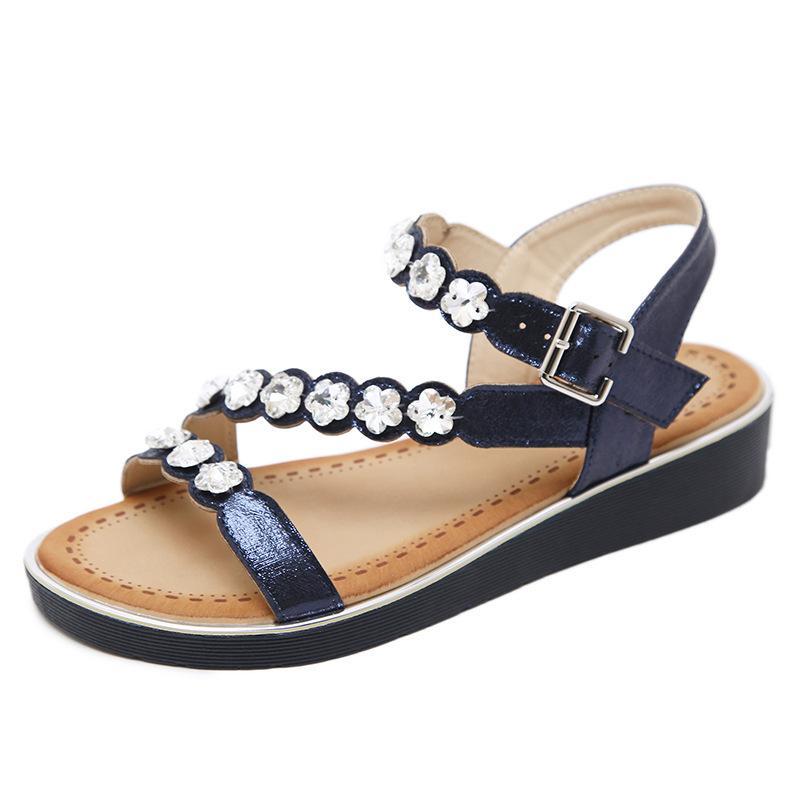 Sandales Perles De Chaîne Dernière Femme Acheter La Strass Mode 4Rq35LAj