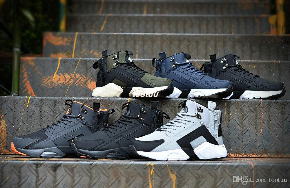 b9be9e8ae392 thanks. 2018 New Air Huarache 6 X Acronym City MID Leather High Top Huaraches  Running Shoes Mens ...