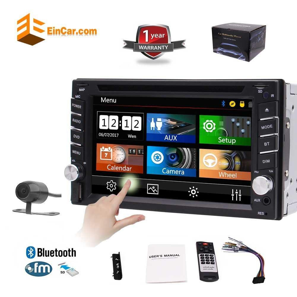 6 2 Double Din Car Radio Dash Bluetooth Car Dvd Player Stereo Mp3