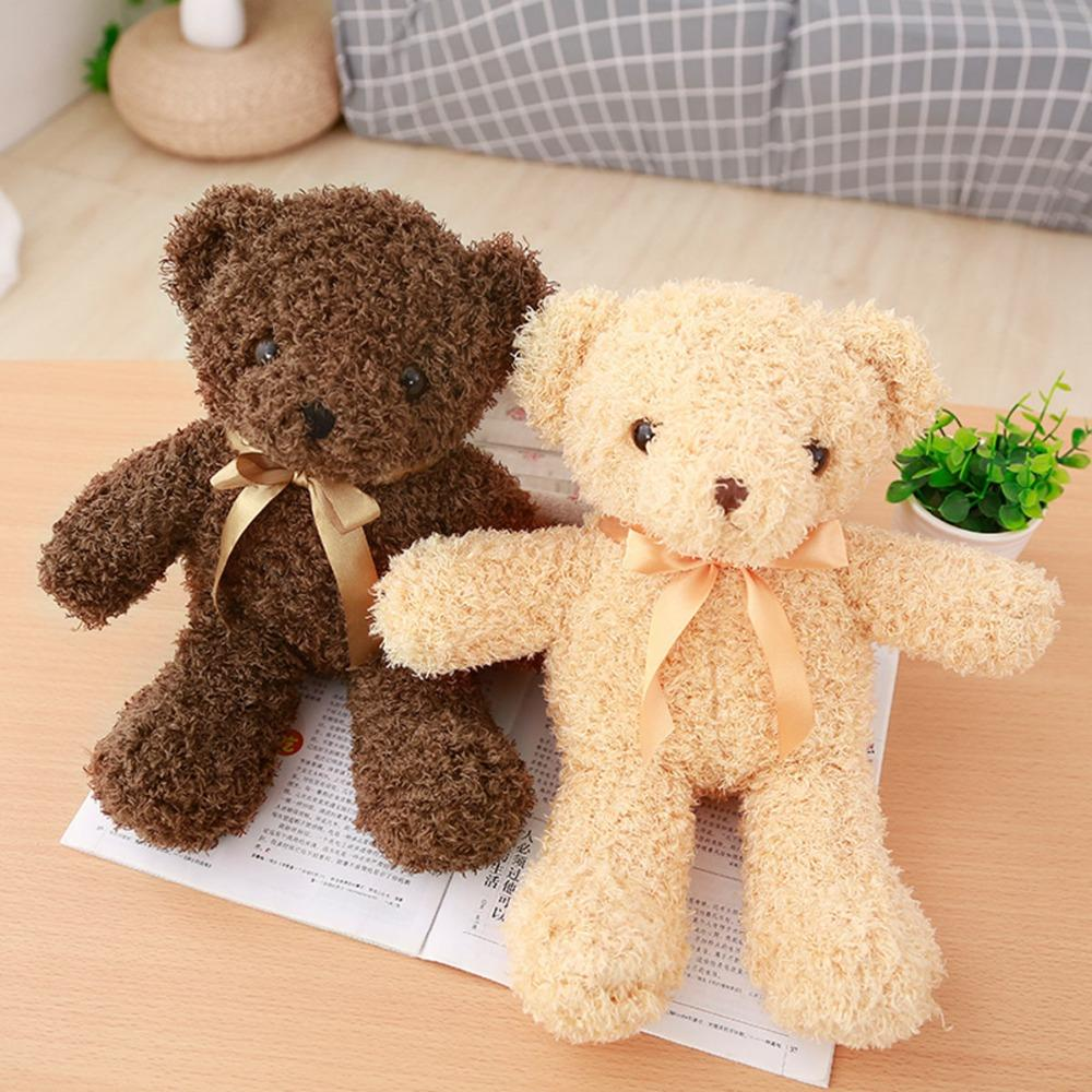 30/35cm Dorp shipping Cute brown Teddy bear Plush Toy Stuffed Animal bear Dolls Kids Baby Children Birthday girl Valentine Gift