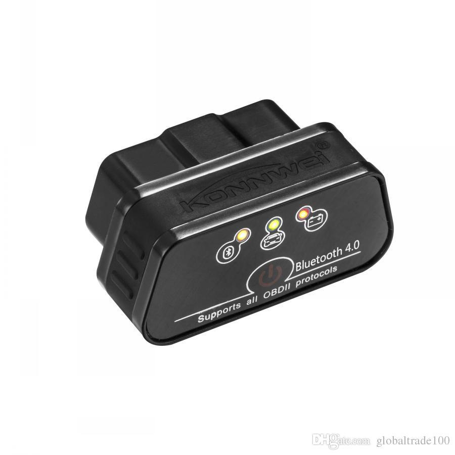 ELM327 OBD2 Bluetooth 4.0 Adapter für IOS Auto Diagnose Scanner OBD2 Bluetooth ELM 327 OBD 2 Auto Scanner KONNWEI KW901
