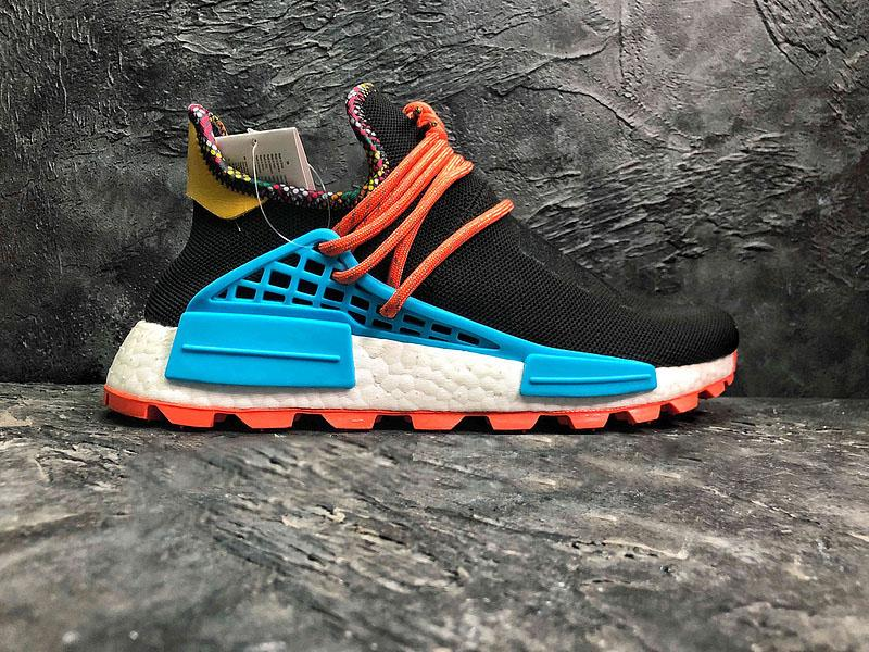 e34f7d34e 2019 2018 Release Pharrell Williams X NMD Hu Inspiration Pack Running Shoes  Black Clear Blue Orange Authentic Sports Sneakers With Box EE7582 From ...