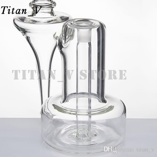 Height 10.16inch Giant Glass Water Pipe Hookah 14mm Female Joint Dab Oill Rigs Conveient&Popular To Use Glass Bongs titan_v