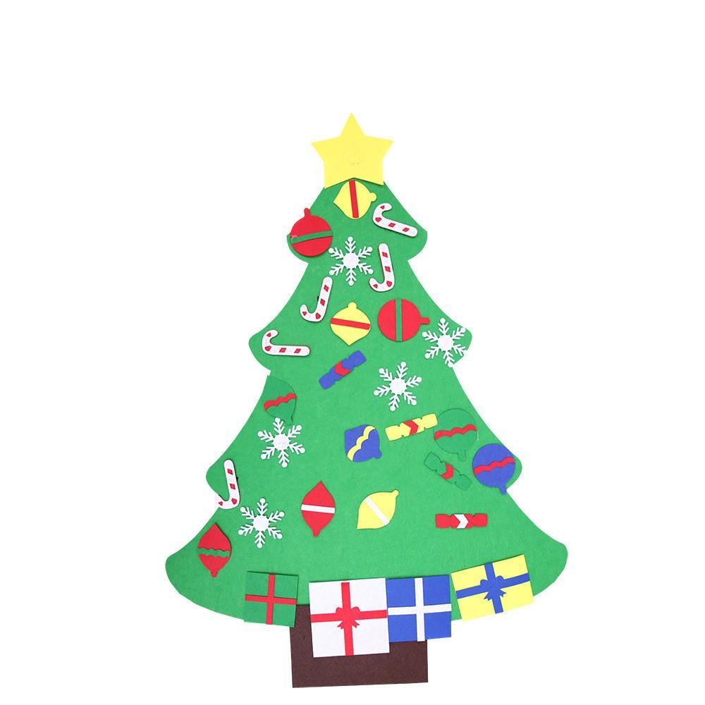 DIY Three Dimensional Felt Cloth Christmas Tree Large Christmas ...