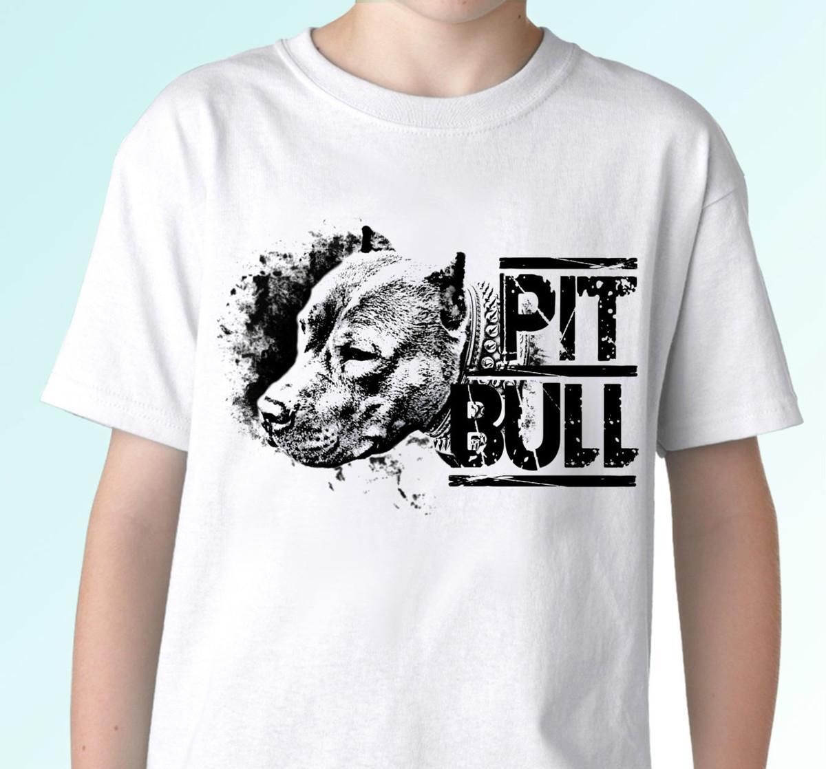 a75760850 Pitbull Dog T Shirt Pit Bull Top Tee Design Mens Womens Kids Baby Shirts  Cool Crazy Design Shirts From Yg02tshirt, $12.05| DHgate.Com