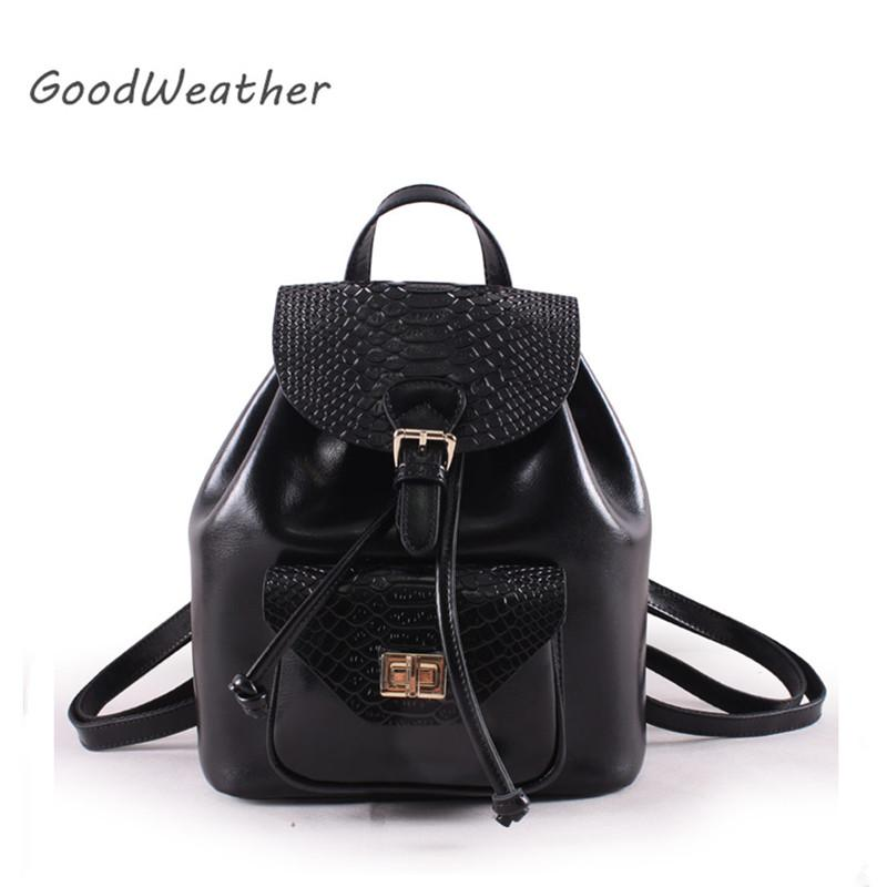 Fashion Small Black Backpack Female Designer High Quality Split ... 6b51aefd3a63b