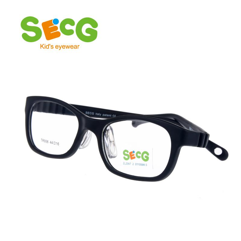 94d1ea5596 2019 SECG Soft Ultralight Children Frame Nose Pads Students Kids Optical  Glasses Frame Hyperopia Myopia Glasses Strap Rubber Band From Strips