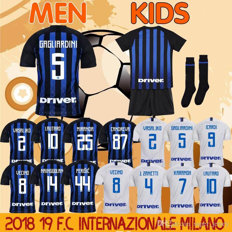 201819 Milan Soccer Jerseys ICARDI L.MARTINEZ VECINO KEITA DE VRIJ ... 937d3e82a