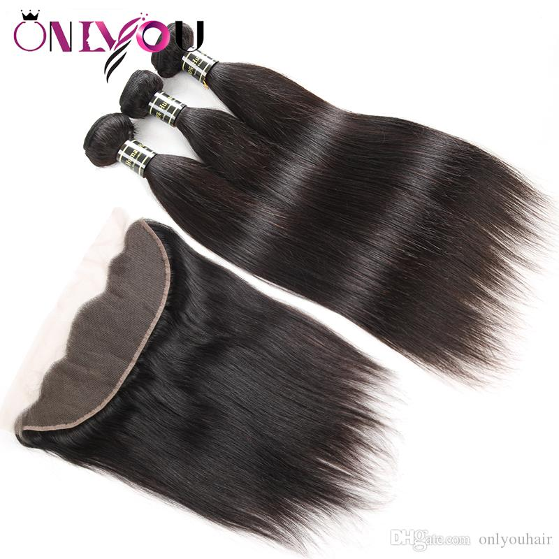 Необработанные бразильские девственные человеческие волосы переплетения 3 пучка с кружевом фронтальная глубокая объемная волна странные вьющиеся волосы на лобном переплетении