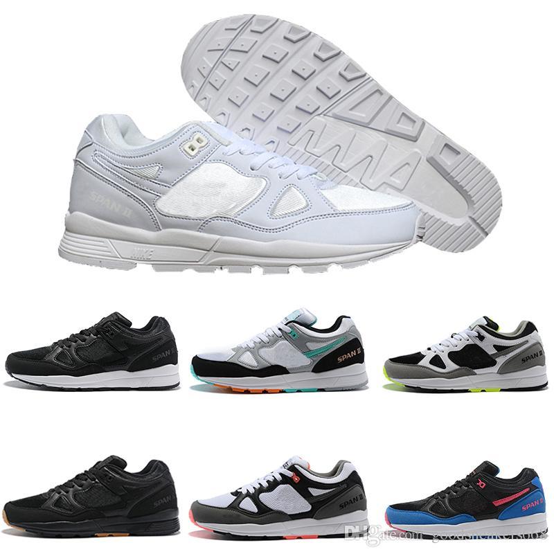 31d6b8409de2 Acheter Nes Nouveau Span Ii Chaussures De Course Noir Blanc Kylie Homme  Concepteur Sneakers Formateur Extérieur Chaussures De Sport Zapato Runner  Chaussure ...