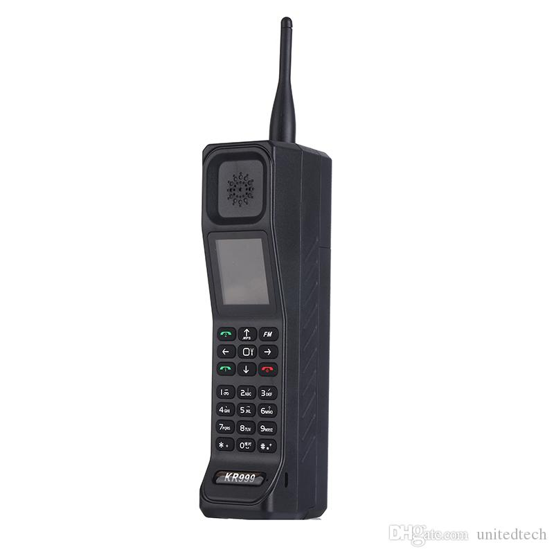 Retro Stil Big Brother Cep Telefonu Anten Iyi Sinyal Güç Bankası Extroverted FM Bluetooth meşale Feneri GPRS Çift Sim Kart Telefon