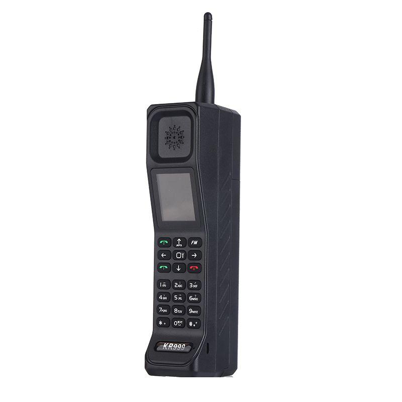 Style rétro Grand Frère Mobile Téléphone Antenne Bon Signal Banque De Puissance Extroverted FM Bluetooth torche Lampe De Poche GPRS Double Carte Sim Téléphone