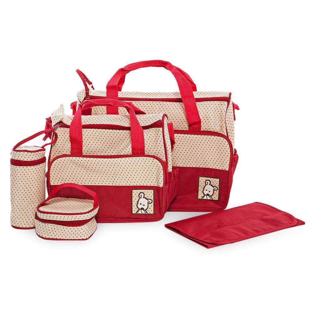d213b1278a556 2019 Multifunctional Baby Nappy Mummy Maternity Nappy Handbag Diaper Pad  Feeding Bottle Holder Capacity Baby Nursing Bag From Laurul