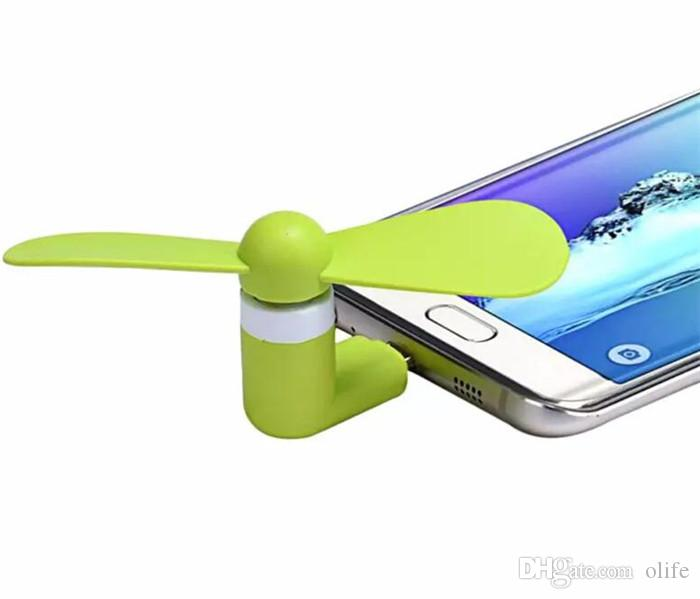Fashion Mini Cool Micro USB Fan Mobile Phone USB Gadget Cooler Fan Tester Cell phone For type-c Samsung s9 s8 plus