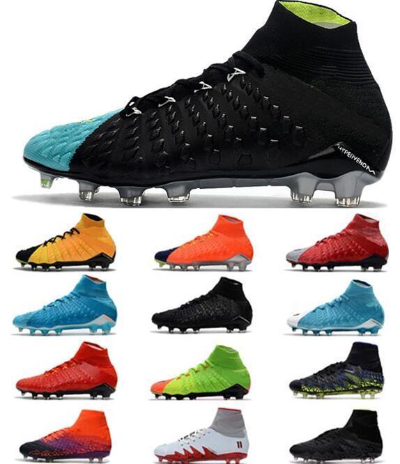 Compre 2018 Hypervenom Phantom III DF FG Zapatos De Fútbol Para Hombres  Tobillo Rising Fast Pack Zapatos Footabll Hombres 3D Botas De Fútbol Neymar  Soccer ... 065bc9137dfdd
