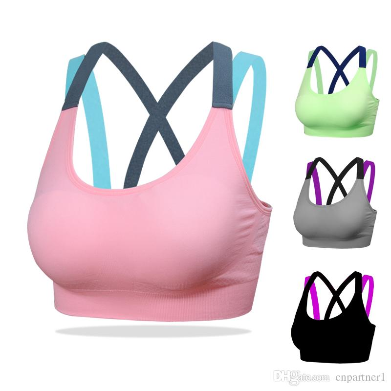f676956d517ed 2019 Fashion Fitness Yoga Push Up Sports Bra For Womens Gym Running Padded  Tank Top Athletic Vest Underwear Shockproof Strappy Sport Bra Top From  Cnpartner1 ...