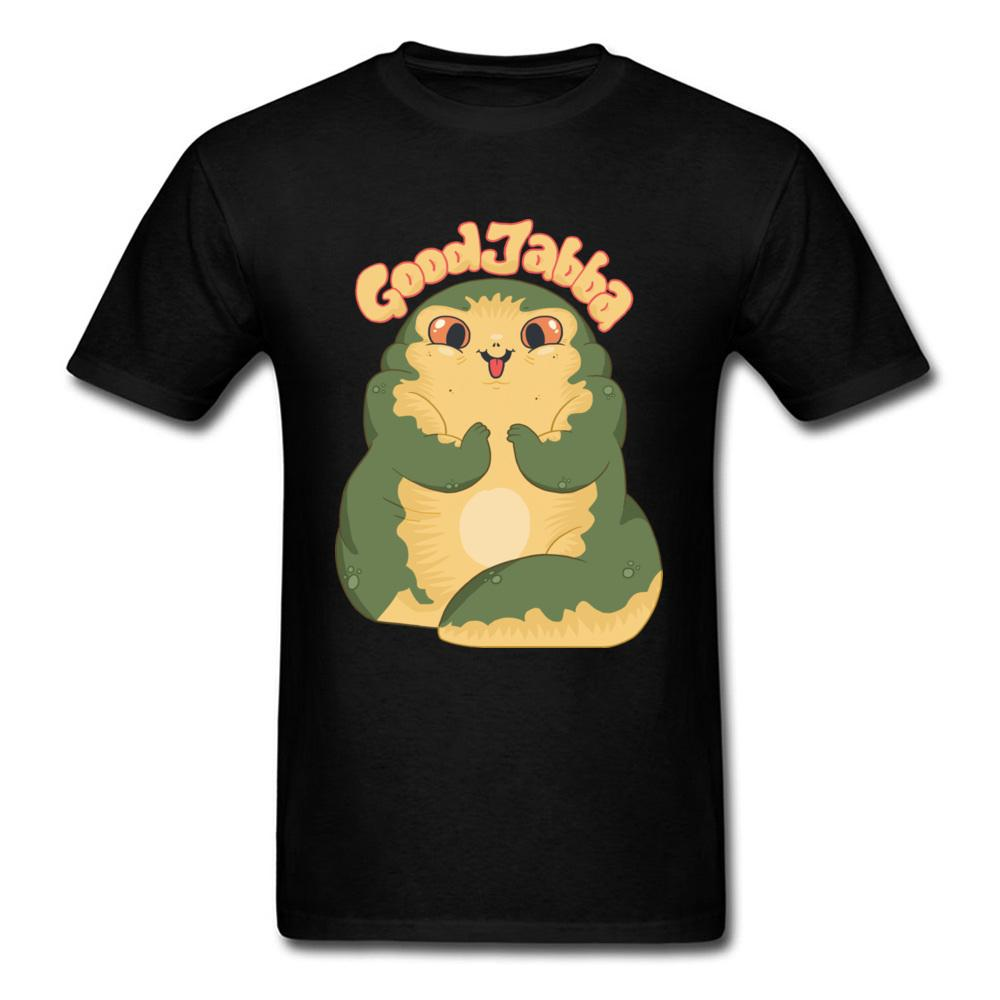 Cute Jabba The Hutt Men Black T Shirt Graphic Tops Tees 2018 Funny Summer Clothing Mens Gift Tshirt For Friends