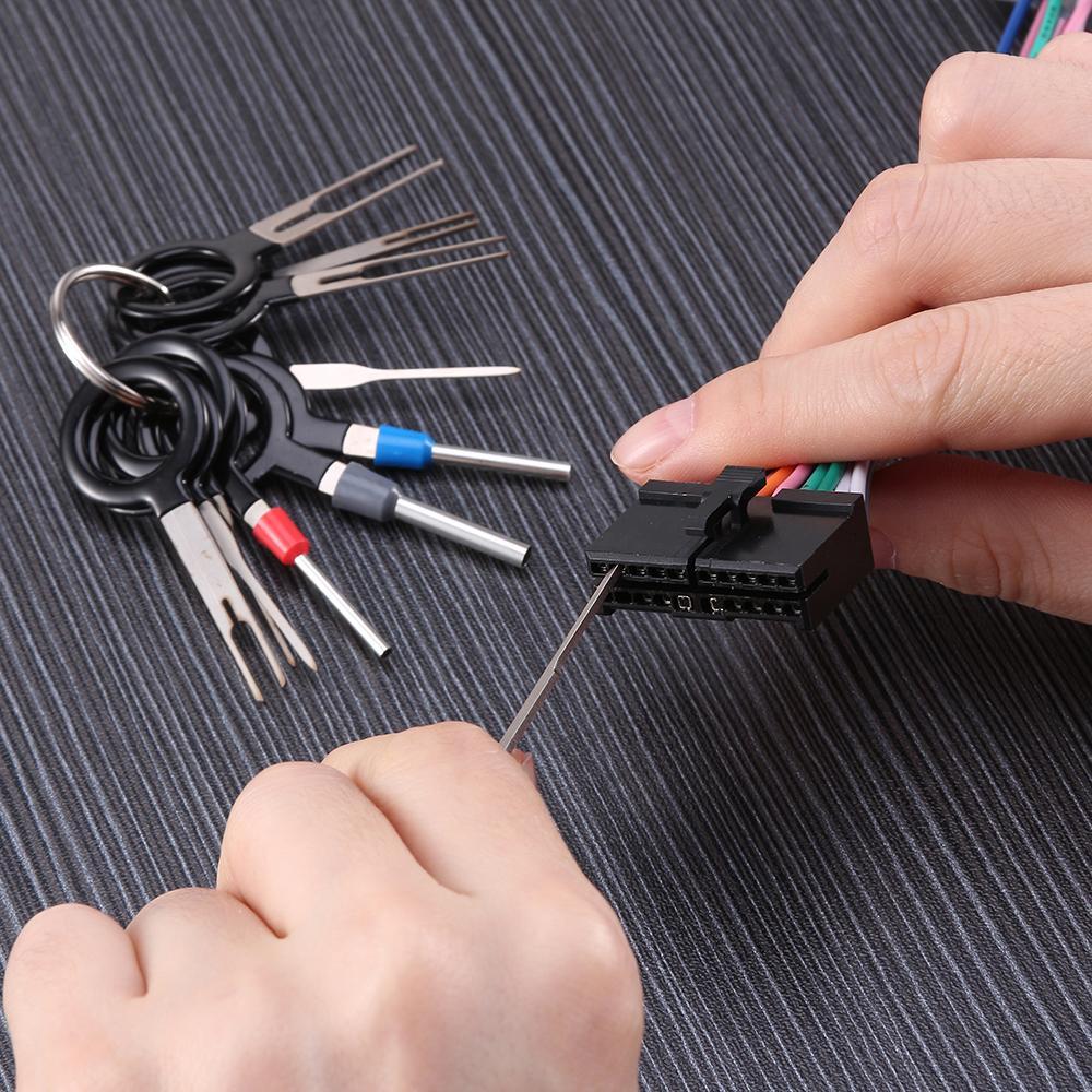 acquista ire repair tools 11 * terminale rimozione too car plug circuit board  wire harness terminale pick pick connettore crimp pin back needle remo