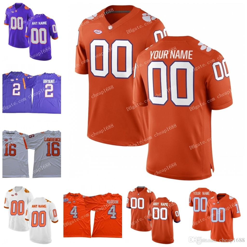 90ed44fe97b 2019 NCAA Clemson Tigers  2 Mackensie Alexander 9 Wayne Gallman II 13 Adam  Humphries 1 Martavis Bryant Stitched 2018 New College Football Jersey From  ...
