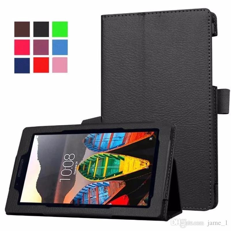 "7 inch Case For Lenovo Tab3 710F 710 710I 7"" Ultra Thin Litchi Stand PU Leather Protector shell Cover Tablets case"
