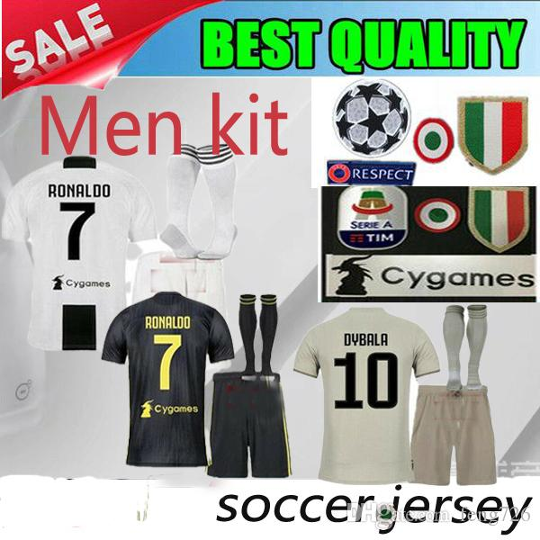 info for dccc7 3f60e 2018 2019 Juventus Men kit HOME Third Soccer Jerseys 18/19 juventus kit  DYBALA Soccer Shirt RONALDO 7 MANDZUKIC football uniform Sales