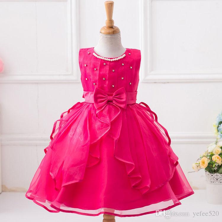 2018 Hot Sale Kid Girls Princess Gown Birthday Formal Gown Kids ...