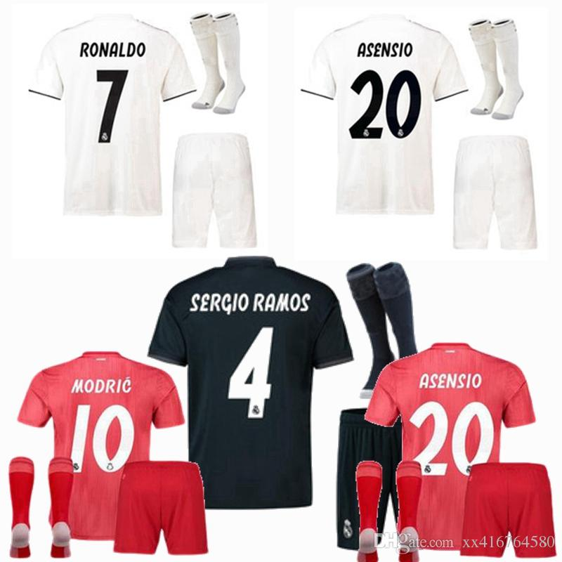 2019 2018 2019 Real Madrid Kids Soccer Jerseys Kits 18 19 Home Away 3rd  ASENSIO SERGIO RAMOS MARCELO KROOS BALE Child Football Boys Shirts From  Xx416764580 6d9a679ef