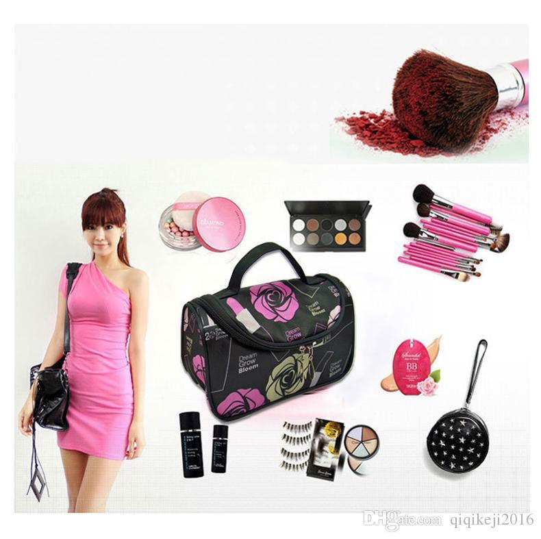 f93b170ffcfe 2019 Hot Sale Colors Cheap Zipper Makeup Clutch Women S Travel Cosmetic Bag  Wholesale Portable Toiletry Kits Bags From Qiqikeji2016
